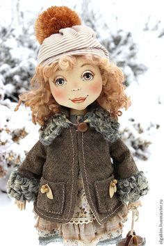 На каток!!! - коричневый,коньки,зима,каток,подарок на любой случай,авторская кукла