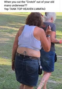 Wearing mens underwear as a tank top at the park Walmart Pictures, Epic Fail Pictures, Funny Pictures, Crazy People, Funny People, Her Cut, Funny Tank Tops, Textiles, Funny Picture Quotes