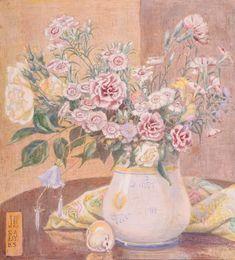 "Twentieth Century British Art by Jessie Bayes: ""The ivory mouse , circa Art Society, Jessie, Art Gallery, Ivory, Fine Art, Flowers, Art Floral, Painting Art, Image"