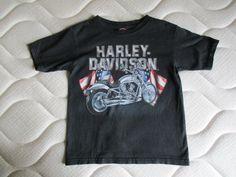 9f90cd2858 Tee Shirt Harley Davidson noir enfant taille 6-8 ans - Bon état, taille.  Vinted