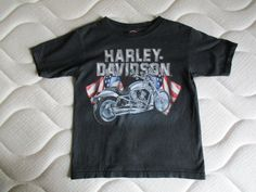306a34fb0e171 Tee Shirt Harley Davidson noir enfant taille 6-8 ans - Bon état