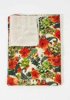 This thick hand-quilted blanketis not only beautiful but extremely soft and comfortable. The silk-screened pattern comes in three distinctcolor pallets....