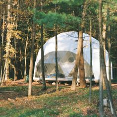 Deep in the woods lies your home away from home in this geodesic #Dome by Pacific Domes