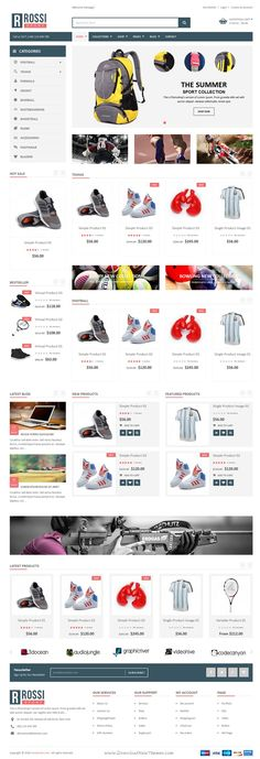 SP Rossi is a clean and modern responsive #Shopify Theme for stunning eCommerce website. #sports #shop Download Now!