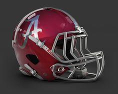 Concept Helmet - Alabama Alabama Football Helmet, Football Helmet Design, Alabama College Football, College Football Helmets, Falcons Football, Nfl Football Players, Sports Helmet, Crimson Tide Football, Alabama Crimson Tide