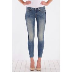 Henry & Belle Lila Skinny Ankle (383530402) ($162) ❤ liked on Polyvore featuring jeans, adelaide, white jeans, denim skinny jeans, ankle length skinny jeans, skinny leg jeans and cut skinny jeans