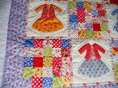 Doll Dress Up Patchwork Baby Girl Blanket by ForgetMeNotQuilteds Patchwork Table Runner, Patchwork Blanket, Patchwork Baby, Patchwork Patterns, Patchwork Designs, Girls Quilts, Blue Quilts, Dolly Dress Up, Special Girl