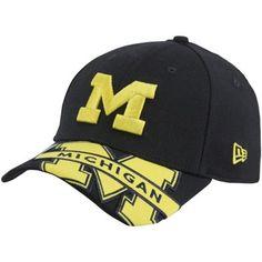 8d343c9a07a New Era Michigan Wolverines Melviz Classic 39THIRTY Flex Hat - Navy Blue  Michigan Wolverines