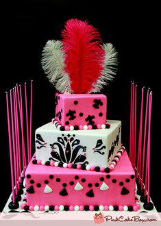 As design inspiration for this Bat Mitzvah cake