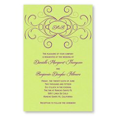 Striking Flourish Wedding Invitations