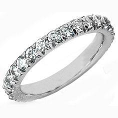 Round Diamond Novo Style Vintage Wedding Band 0.32 tcw. In 14K White Gold