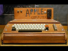 1976 - Apple I - The very first Apple computer in April of 1976. Launched by Steve Jobs and Steve Wozniak.