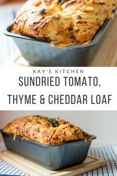 Veggie Recipes, Bread Recipes, Vegetarian Recipes, Dinner Recipes, Cooking Recipes, Healthy Recipes, Thyme Recipes, Drink Recipes, Cheddar Bread Recipe