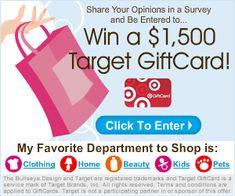 Free $1500 Target Gift Card shopping spree