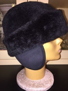 Russian Cossack Hat Black Faux Fur Quilted Lining Men's XL  Vintage    eBay