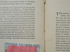 An old book of etchings and a hint of coral paint