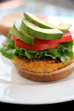 Sweet Potato Veggie Burger - very delicious, also works well with chickpeas added. Would recommend adding a series of spices to ramp up the flavor