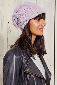 Keep Your Ears Warm & Your Style Fresh With Our Versatile Hats. Slouchy Hat, Beanie, Floppy Hats, Shades Of Purple, Winter Wardrobe, Knit Patterns, Winter Style, Knits, Knitted Hats