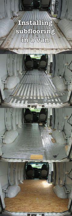 Isolamento e pavimento in OSB di un furgone camperizzato #vanlife #furgone #furgonecamperizzato #pavimento
