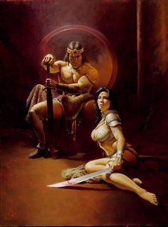 Dark Fantasy Art, Sci Fi Fantasy, Fantasy Artwork, Pulp Fiction, Science Fiction, Marvel Comics, Conan The Barbarian, Boris Vallejo, Sword And Sorcery