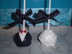 cute wedding pop cakes
