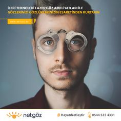 Lazer göz ameliyatları ile gözlüklerinizden ve kontakt lenslerinizden kurtulabilirsiniz. Kişiye özel uygulanan ileri teknoloji Refraktif cerrahi uygulamaları (RelexSmile, Excimer Lazer, Lasik, Presbyond, No-Touch) ile tetkikler sonucunda uygun görünen kişilerde tüm görme problemelerine elveda.     Her görme kusuru için farklı görüş düzeltme teknolojisi uygulanarak hasta göz yapısına en uygun tedavi ile kusursuz sonuçlar alınabilmekte.    Gözlüksüz bir Hayat Mümkün.    Tüm göz problemleriniz için Laser Eye Surgery, Eyes, Glasses, Movie Posters, Eyewear, Eyeglasses, Film Poster, Eye Glasses, Cat Eyes