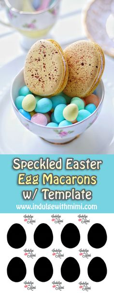 A NO MESS method to add speckles to Easter Egg Macarons