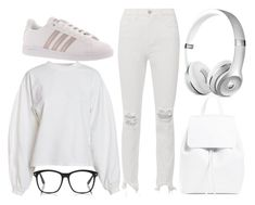 """""""mostly white"""" by colekat ❤ liked on Polyvore featuring NLY Trend, L'Agence and adidas"""