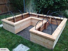 Macrocarpa Raised Garden bed U shaped | Trade Me