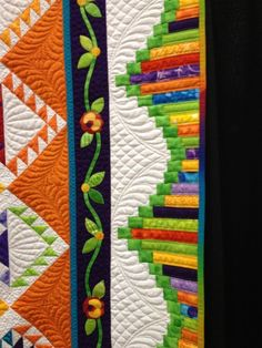 It's from a quilt called Tangerine Rose by Lynn Droege of Overland Park, Kansas. Patchwork Quilting, Quilt Stitching, Longarm Quilting, Free Motion Quilting, Applique Quilts, Machine Quilting, Quilt Boarders, Quilt Blocks, Borders For Quilts