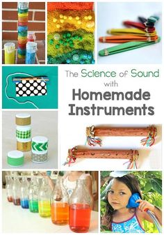 Explore the Science of Sound with these Homemade Instruments! These DIY musical instruments make great STEM activities for kids of all ages! ~ BuggyandBuddy.com