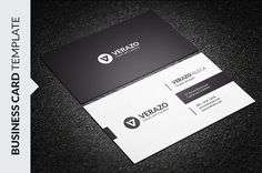 Clean Minimalist Business Card Templates **Wait! Have you seen our 150 BUSINESS CARD BUNDLE WORTH $900 ? NOW FOR ONLY $20 ?**Have a look ? h by Verazo