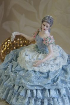Dresden Lace Figurine (Lady in Blue)