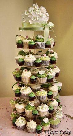 taart en cupcakes.