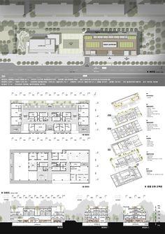 시립송파 실버케어센터 건립 설계공모_WebDRM[yq5] Architecture Board, Architecture Design, Presentation Boards, Dormitory, Competition, Floor Plans, Layout, Concept, Urban