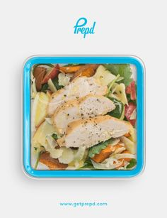 Get your crunch on with this flavorful chopped salad. This dish is a delicious marriage of baked sweet potatoes, fresh fennel, crisp apple, parmesan and baked chicken.