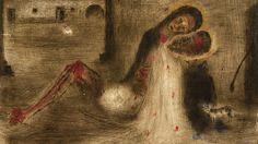 Fotogalerie: Bohuslav Reynek: Pieta na dvoře Modern Photography, Day For Night, Michelangelo, Statues, Stone, Gallery, Masters, Images, Paintings