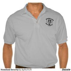 Men's Homeland Security Sport Grey Gildan Jersey Polo Shirt.  #style #new #guns #defense #alpha #golf