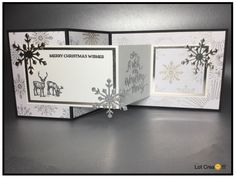 SU...Double Z fold card...DSP Year of Cheer... Z Cards, Cute Cards, Stampin Up Cards, Holiday Cards, Christmas Cards, Christmas 2017, Tri Fold Cards, Fancy Fold Cards, Folded Cards