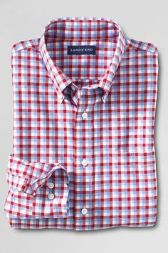 Men's Traditional Fit No Iron Twill Shirt from Lands' End