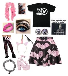 """Pastel goth"" by majastina2004 on Polyvore featuring WithChic and Y.R.U."