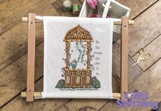 #Dreams can come true - cross stitch pattern. Breathe life into this delicately detailed wishing well project, and let this design be an #inspiration for you every day! Look out for the chart pattern, only in issue 226 of The World of Cross Stitching magazine