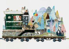 日本画家 Junaida 的插画绘本,驶向童年的小火车,比开往霍格沃茨魔法学校的火车更为神奇。