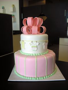 https://flic.kr/p/6uHJjK | baby clothes baby shower cake | CUSTOM CAKES REQUIRE 14 DAYS' NOTICE  Email brian@retrobakerylv.com for details and pricing  RETRO BAKERY www.retrobakerylv.com