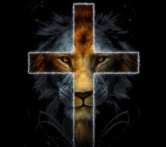Check out this cool pics of a lion and a cross that is pretty cool.