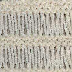 Tunisian Crochet Drop Stitch