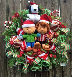 Hey, I found this really awesome Etsy listing at https://www.etsy.com/listing/238976795/snoopy-christmas-wreath-charlie-brown
