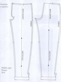 Cartamodelli per pantaloni (Foto 4/20) | Tempo Libero PourFemme