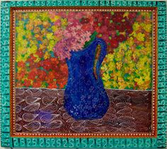 """New to SissysFolkArt on Etsy: Flowers From My Darlling 27"""" x 32' (1100.00 USD)"""