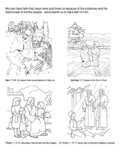 Primary 3 Lesson We can have faith in Jesus Christ Coloring Page Primary Talks, Lds Primary, Primary Activities, Primary Lessons, 5th Class, Book Of Mormon, Have Faith, Coloring Pages, Colouring